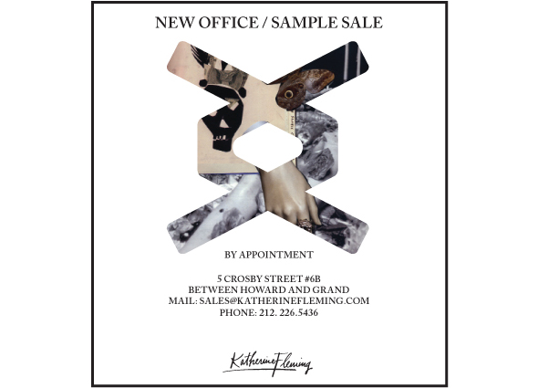 Katherine Fleming appointment-only sample sale