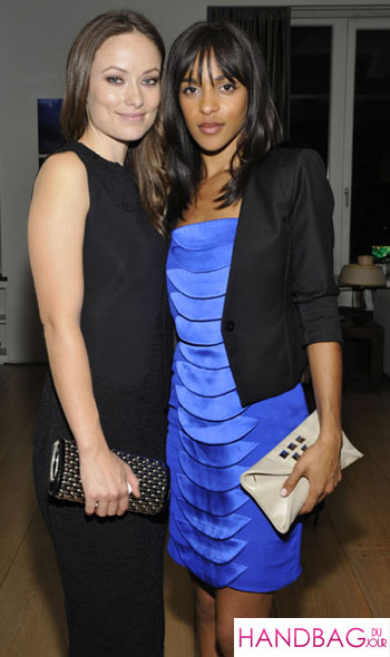 Olivia Wilde and Megalyn Echikunwoke attend the New York premiere of