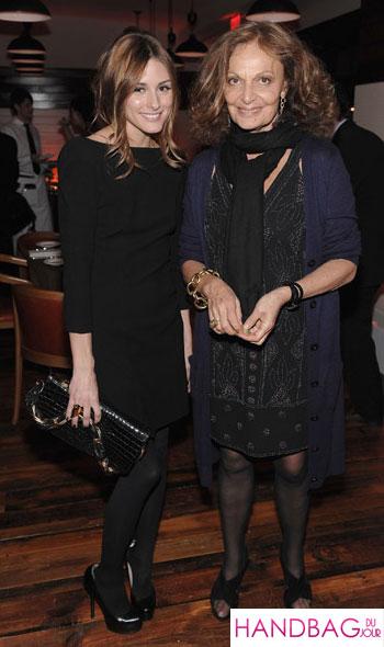 Guess her bag: Olivia Palermo dines with Diane von Furstenburg Audi TDI Clean Diesel Dinner the city