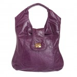 On sale Bulga Besame Lambskin Leather Shoulder Tote Bag