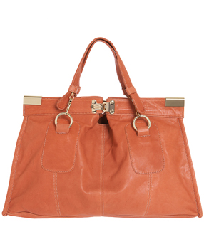 Bulga dark orange leather 'Matt' large