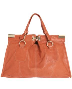 Bulga Dark Orange Leather Matt Large