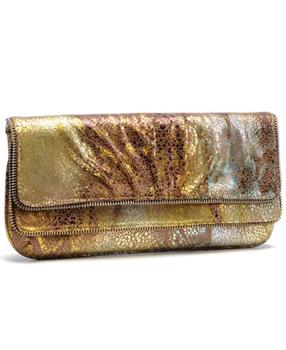 Allie clutch in Gold Galaxy Metallic + Lauren Merkin sale on Gilt