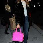 Sarah Jessica Parker and her Diane de Maria 'Bonnie' bag do Letterman