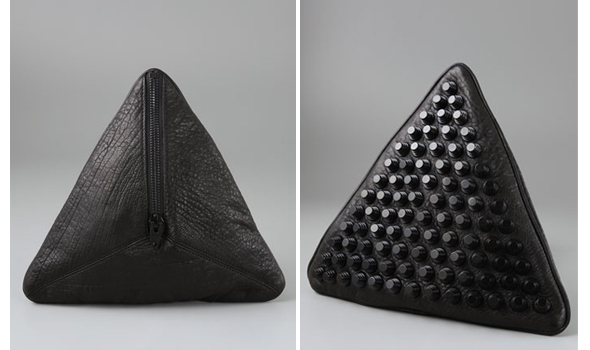 spring bags Alexander Wang Darla Pyramid Clutch