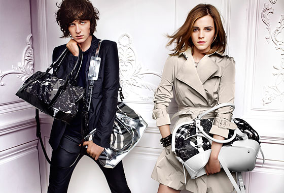 For Burberry's spring 2010 ad campaign, Emma Watson returns as the face of