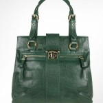 Gianfranco Ferre Menta - Green Reptile Stamped Leather Tote Bag