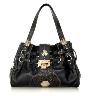 Steal du Jour: Jimmy Choo Riki laser-cut leather bag