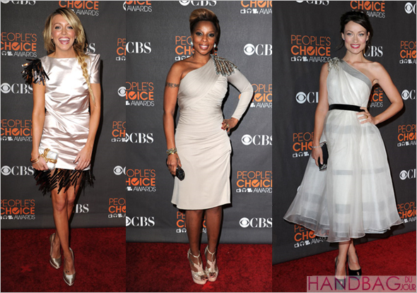 katie cassidy mary j blige olivia wilde judith leiber clutches 2010 People's Choice Awards red carpet