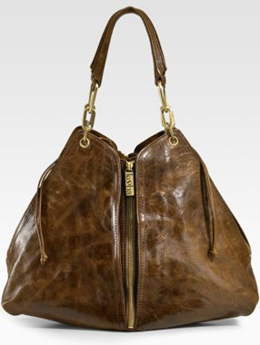 Kooba Jagger Expandable Leather Shoulder Tote