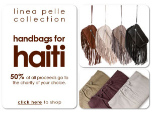Linea Pelle Handbags for Haiti
