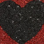 Valentine's Day giveaway Lips and Heart beaded pouches by Moyna