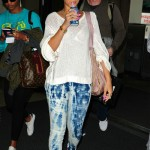 Rihanna and her double dose of arm candy - Matt Kemp and Stella McCartney's Technical taffeta tote