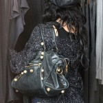 Vanessa Hudgens totes a new bag - the Balenciaga Giant Part Time with gold hardware