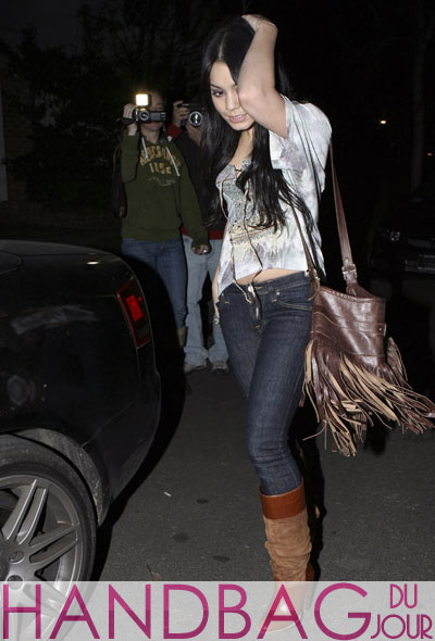 Vanessa Hudgens loves her JJ Winters Leather Fringe Handbag