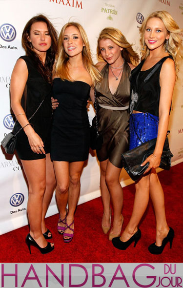 Frenemies Audrina Patridge, Kristin Cavallari, Lo Bosworth and Stephanie Pratt Maxim party