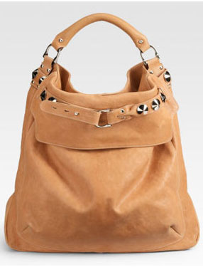 Haute bag of the week Be & D Woodstock Distressed Calfskin Leather Hobo