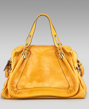 Chloe Chloé Paraty leather bag in curcuma saffron mustard yellow