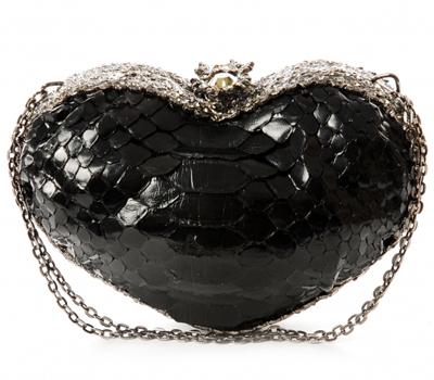 Clara Kasavina Amore P Heart Shape Python Clutch