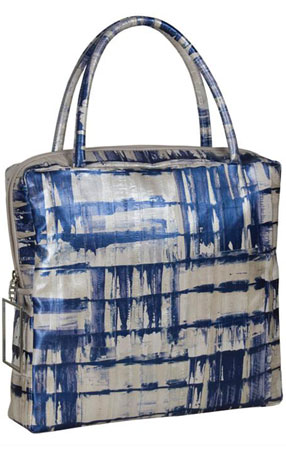 The Sang A. hand-painted eel River tote at vivre makes a strong statement