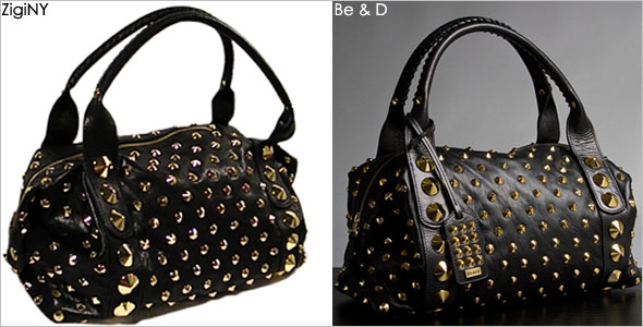 Zigi NY knocks off Be&D's studded Garbo satchel