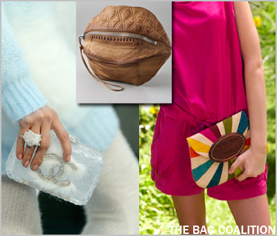 The Bag Coalition 3-19-10 Chanel on the Rocks Alexander Wang Brady Football Clutch Mar y Sol