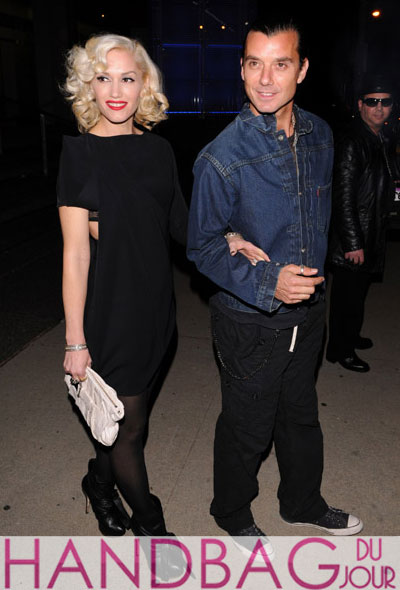 Gwen Stefani and Gavin Rossdale west hollywood L.A.M.B Morgan Clutch