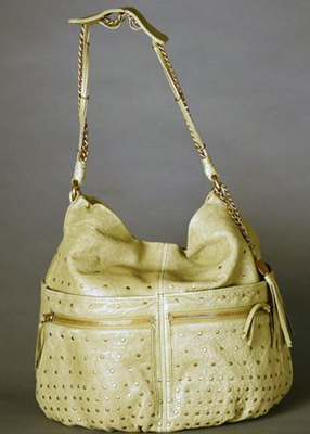 Olivia Harris Studded Ball Hobo in Olive Green
