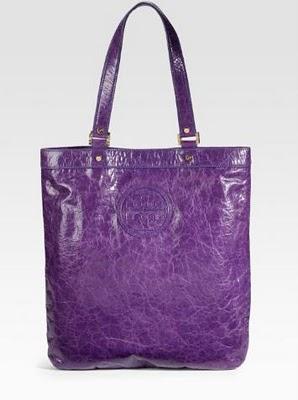 tory burch purple grand shopper tote