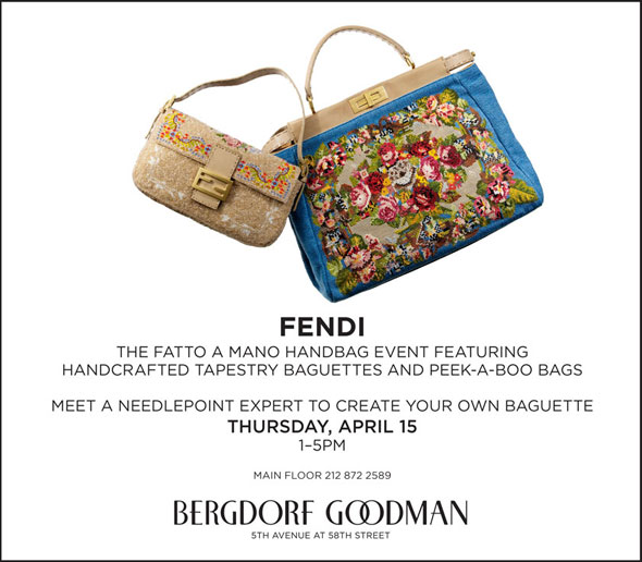 Fendi Fatto a Mano handbag event at Bergdorf Goodman