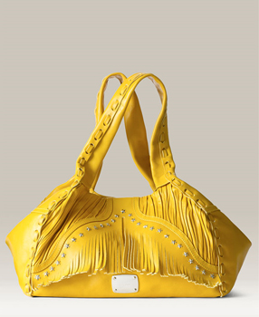 Here comes the sun: Jimmy Choo 'Isola' Leather Shopper in yellow