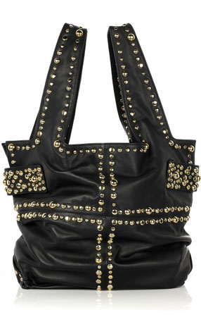 Sara Berman Jivvy studded-leather tote