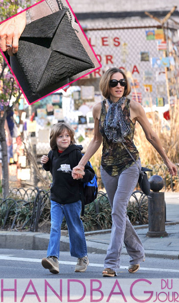 Sarah Jessica Parker with the VBH Sueded Python Origami Bag
