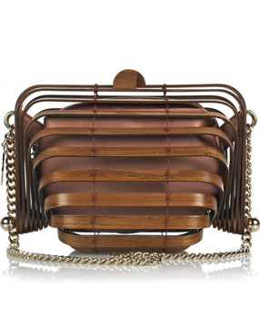 Haute bag of the week: Stella McCartney Wooden accordion clutch bag