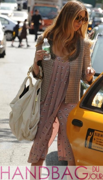 Whitney Port The City on set Name that python hobo bag
