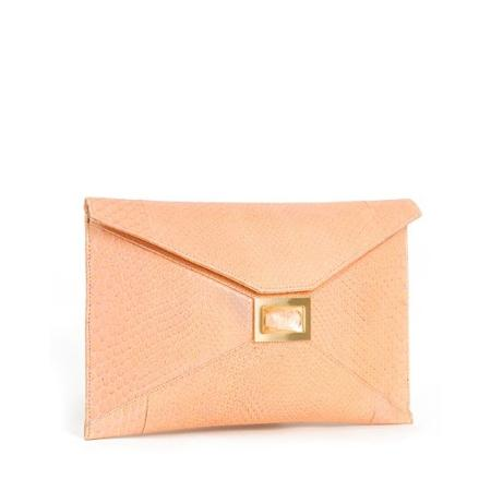 Haute bag of the week: Kara Ross Prunella Python Envelope Clutch