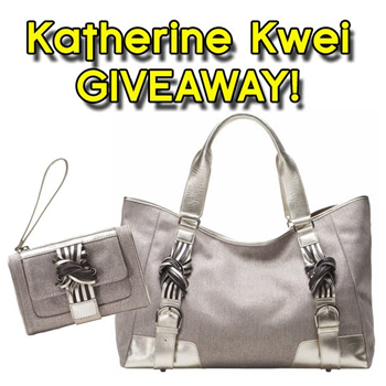 A Few Goody Gumdrops Katherine Kwei kate carry-all Handbag and matching Cosmetics Case