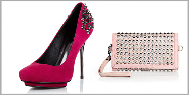 studded bags shoes