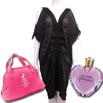 vera wang princess keep calm and carrie on bag Fluxus black kimono dress