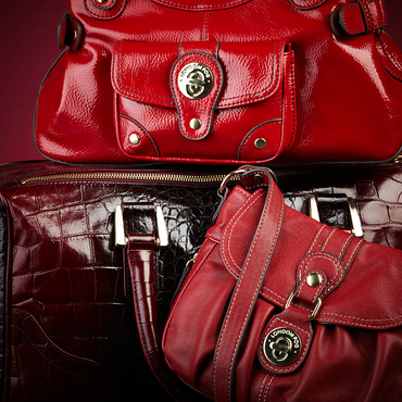 red handbags scarlet statement ideeli