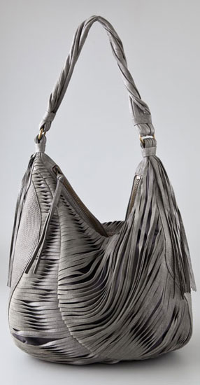 On The Fringes Nanette Lepore Twisted Fringe Hobo