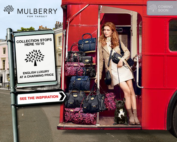 Mulberry for Target - in stores this weekend october 10, 2010
