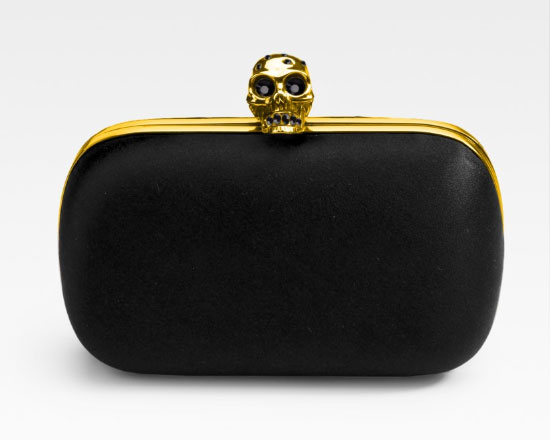 Alexander McQueen Signature Skull Satin Clutch