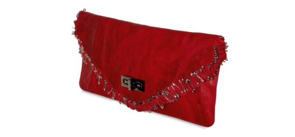 Balmain Ultimate Safety Pins Distressed Clutch