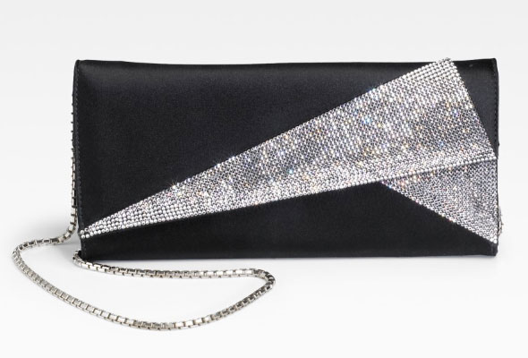 The bag to clutch for New Year's Eve the Judith Leiber Satin & Crystal Clutch