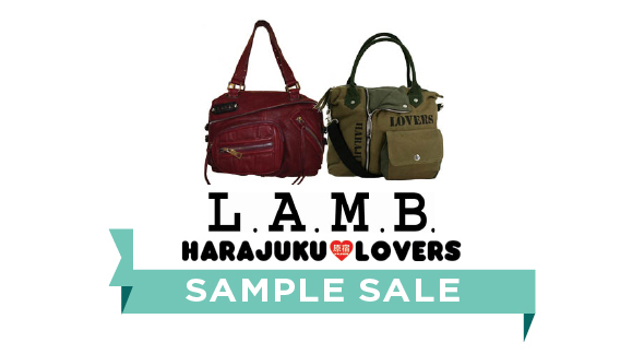 Shop the L.A.M.B. & Harajuku Lovers Handbags Sample Sale