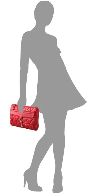 Rebecca Minkoff Quilted Morning After Clutch on model