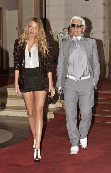 Blake Lively Karl Lagerfeld Chanel Mademoiselle handbags