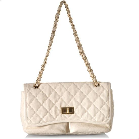 Chanel Mademoiselle white Double Pocket Flap Handbag