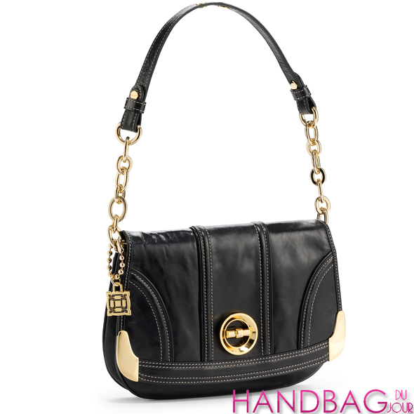 Milly-black-leather-flap-shoulder-bag